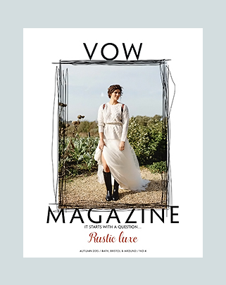 VOW Magazine │ Autumn 2015 │ Rustic Luxe editorial shoot and front cover!