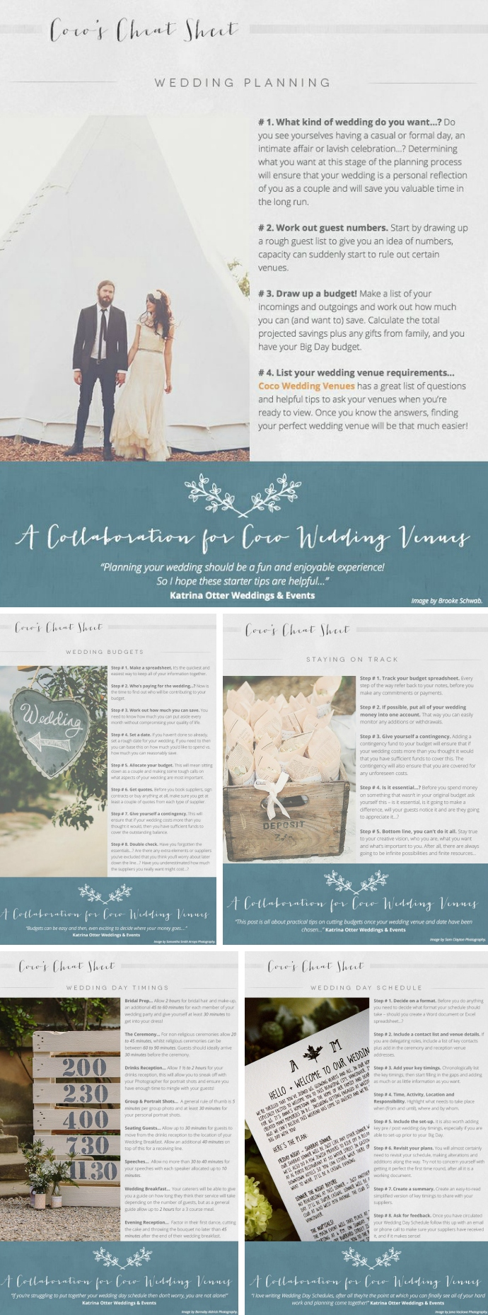 A Guide to Wedding Planning by katrina Otter Weddings