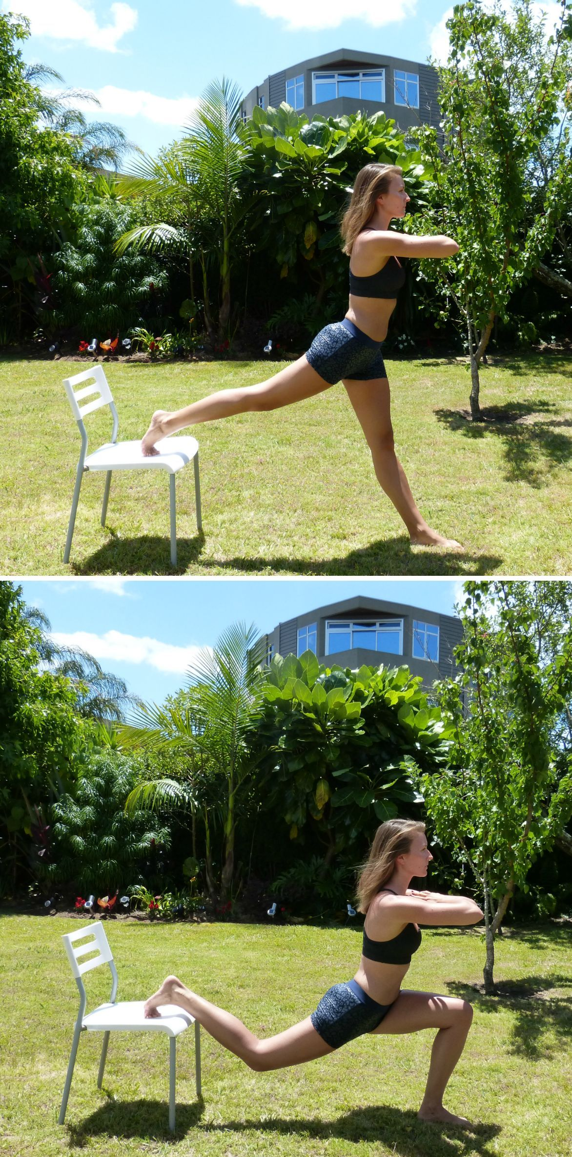 How to Get in Shape Before Your Big Day - Lunge on Chair