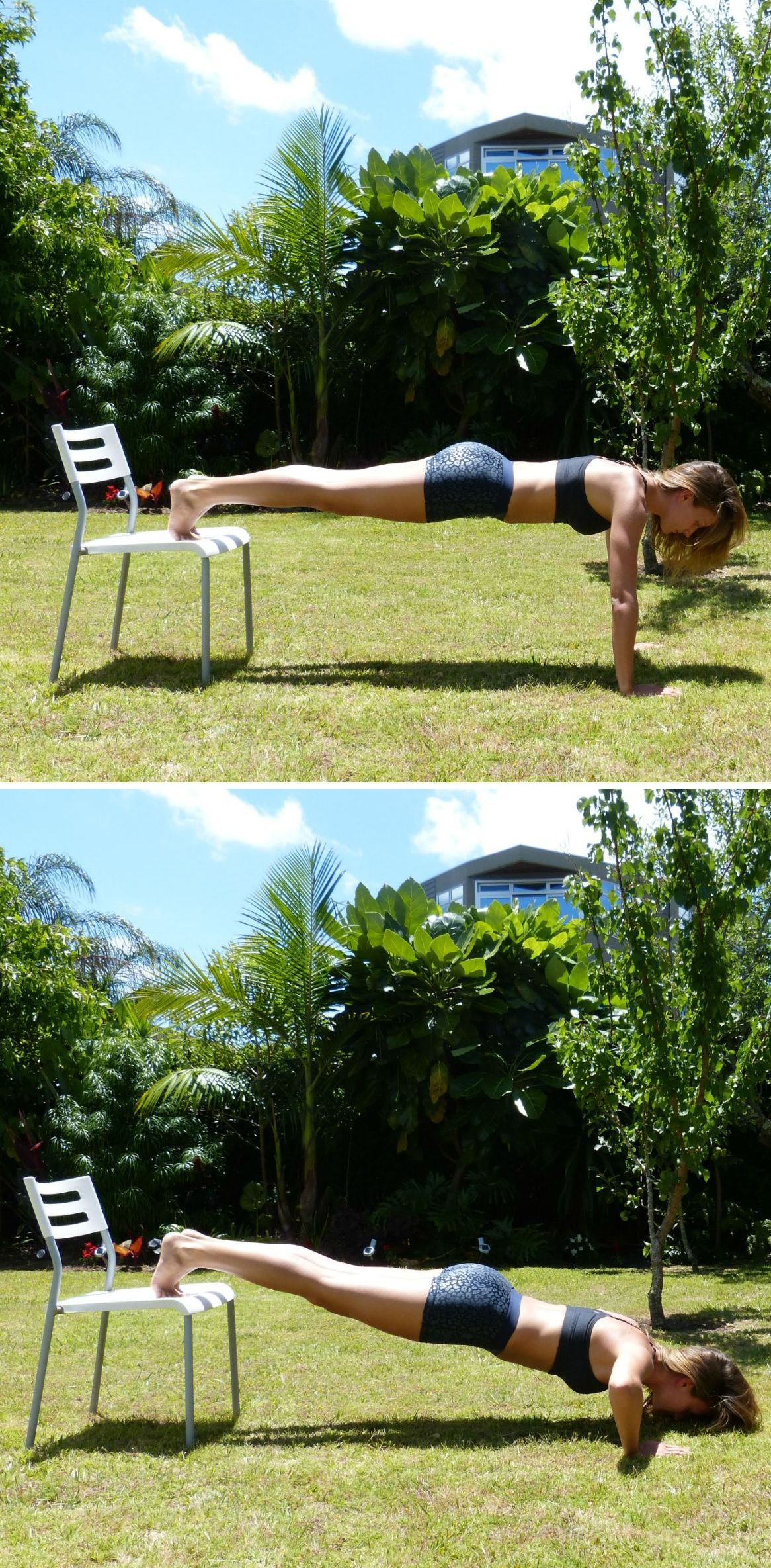 How to Get in Shape Before Your Big Day - Press Up on Chair